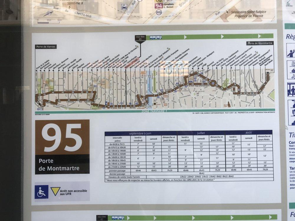 париж общественный транспорт автобус