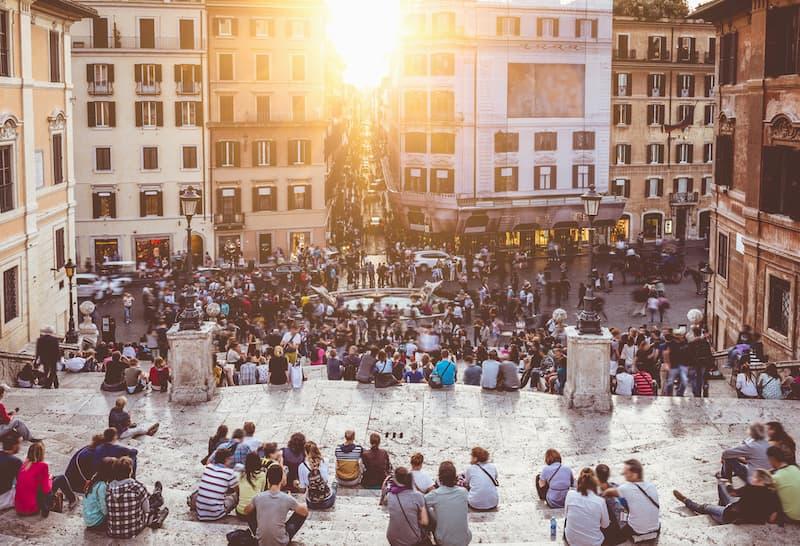 Испанская лестница - достопримечательности Рима